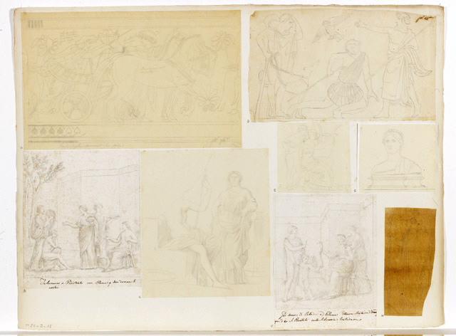 Télémaque, Pisistrate et Hélène (D'après une peinture romaine)_0