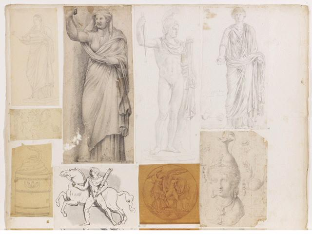 Statue de femme drapée_0