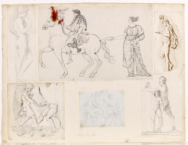 Bacchus posé sur une chèvre par deux faunes_0