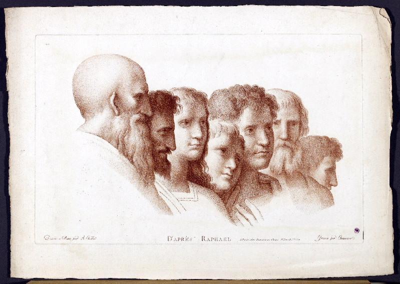 RAPHAEL (d'après), DEMARTEAU Gilles (graveur), CAZENAVE J-Frédéric (graveur), CAILLAT A (dessinateur) : D'après Raphael