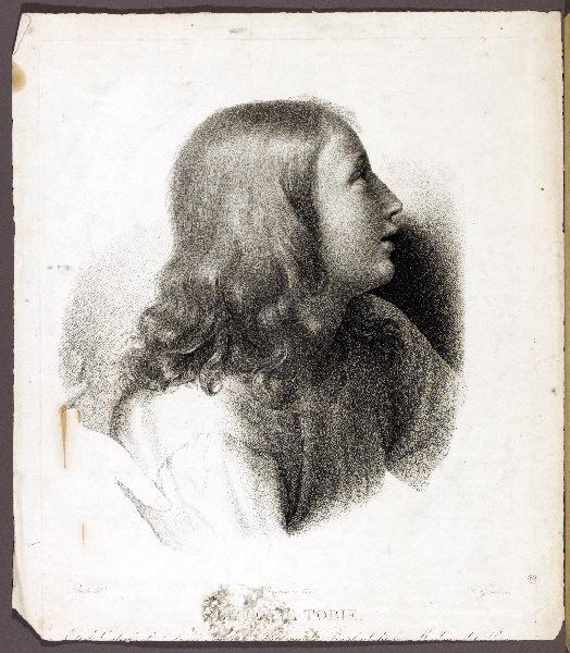 RAPHAEL (d'après), BRALLE Jean Marie Nicolas (dessinateur), BONNEMAISON Chevalier Féréol de (lithographe), GIRARD Alexis François (graveur) : Le jeune Tobie
