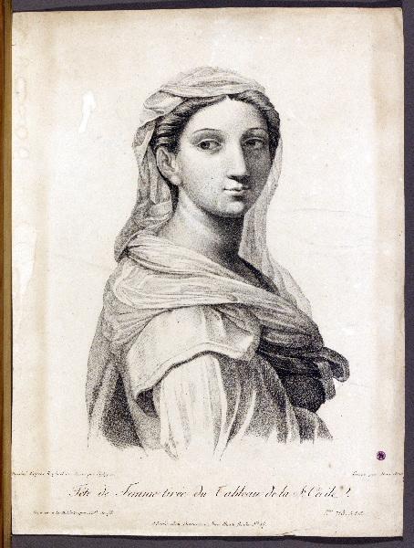 Tête de Femme tirée du Tableau de la Ste Cécile_0