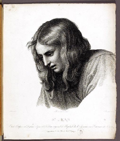 RAPHAEL (d'après), PICOT François Edouard (dessinateur), BONNEMAISON Chevalier Féréol de (lithographe); BERTRAND Noël François (graveur) : S.t Jean