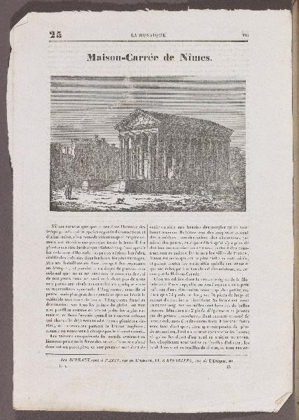 La Mosaïque ; Maison-Carrée de Nîmes_0