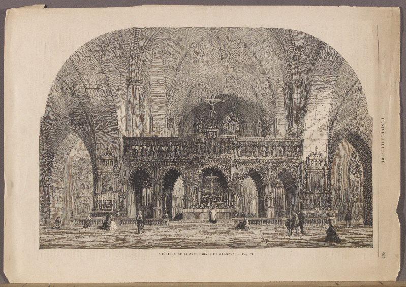 THOMAS W (graveur) : Intérieur de la Cathédrale de Münster, L'Univers Illustré