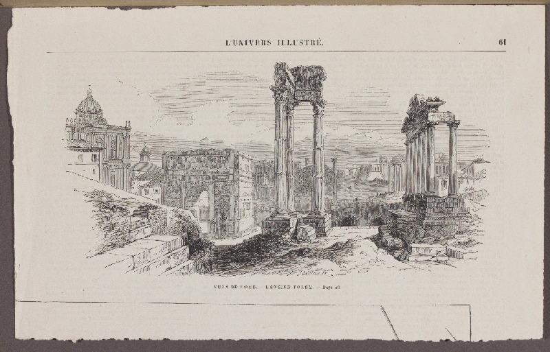 Vues de Rome. Ancien Forum ; L'Univers Illustré_0