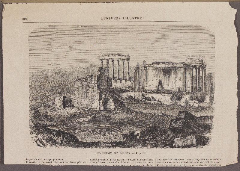journal : Les Ruines de Balbek, L'Univers Illustré