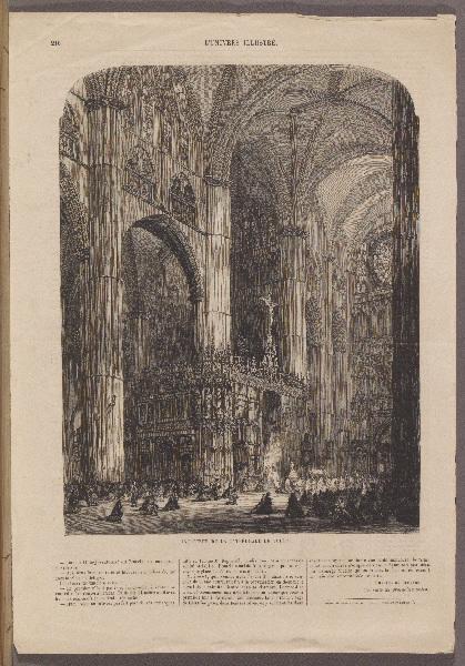 Intérieur de la Cathédrale de Tolède ; L'Univers Illustré_0