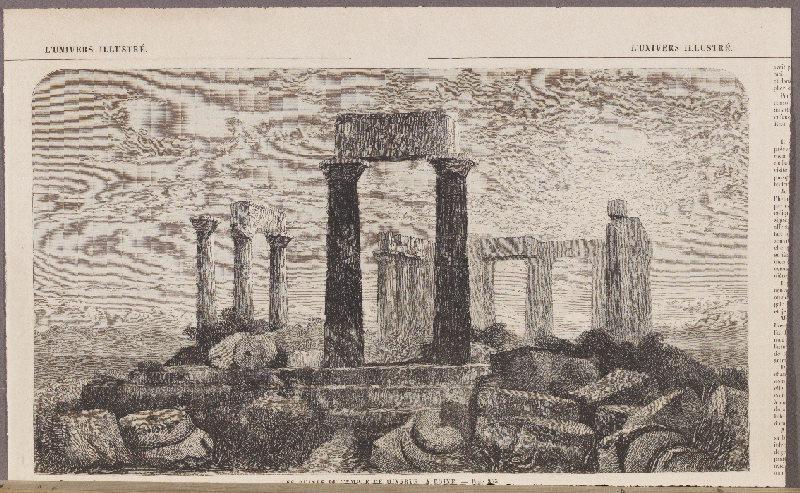 Les Ruines du Temple de Minerve. A Egine ; L'Univers Illustré_0