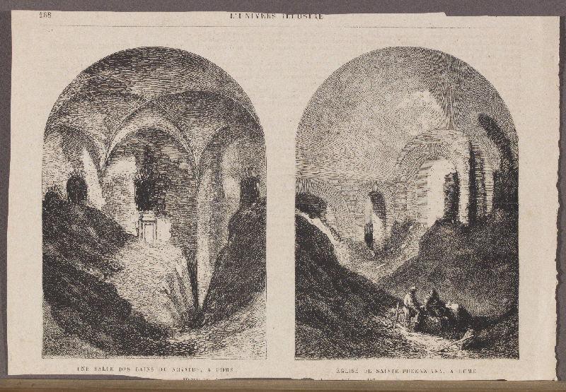 Une salle des bains de Novatus, à Rome ; Eglise de Sainte-Pudenzia, à Rome ; L'Univers Illustré_0