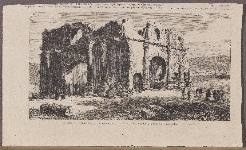 journal : Ruines du Praetorium à Lambessa, L'Univers Illustré