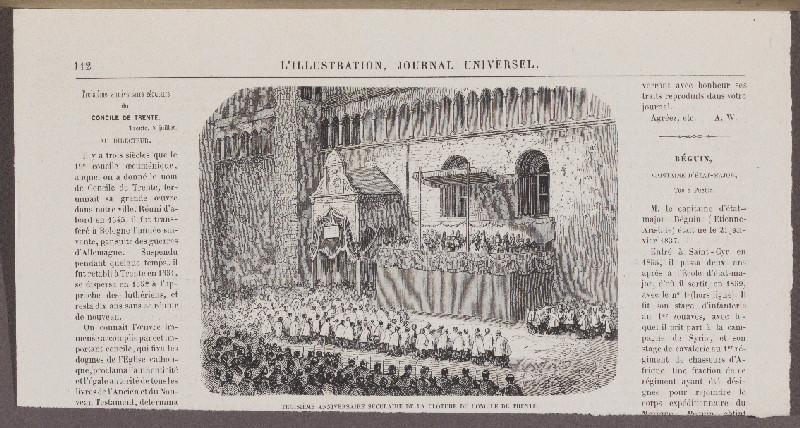 Troisième Anniversaire Séculaire de la Cloture du Concile de Trente ; L'illustration, Journal Universel_0