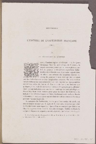 L'Histoire de l'Orfèvrerie Française ; Grammaire des Arts du Dessin ; Gazette des Beaux-Arts_0