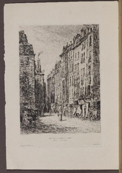 LALANNE Maxime (graveur), DELATRE Auguste (imprimeur) : Rue de la Tonnellerie (Texte retrouvé sur Gallica), Gazette des Beaux-Arts