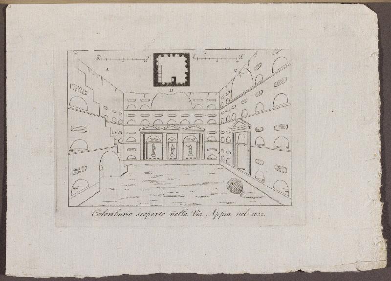 Colombario scoperto nella via Appia nel 1822_0