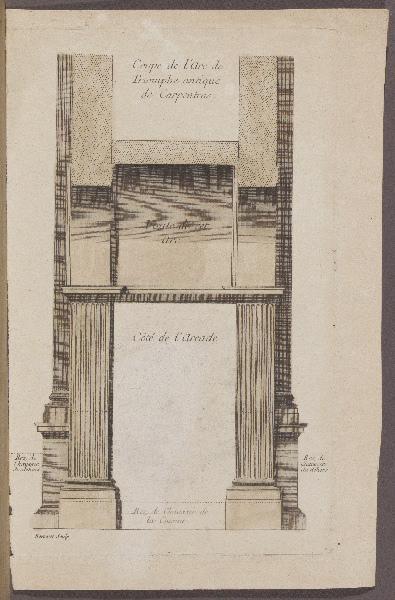 Coupe de l'Arc de Triomphe antique de Carpentras_0
