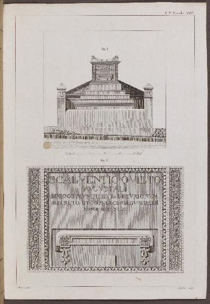 CIPRIANI Giovanni Battista (graveur), MAZOIS François (archéologue, architecte)