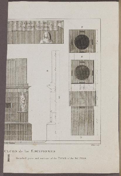 Détails et coupes du tombeau des Scipion_0
