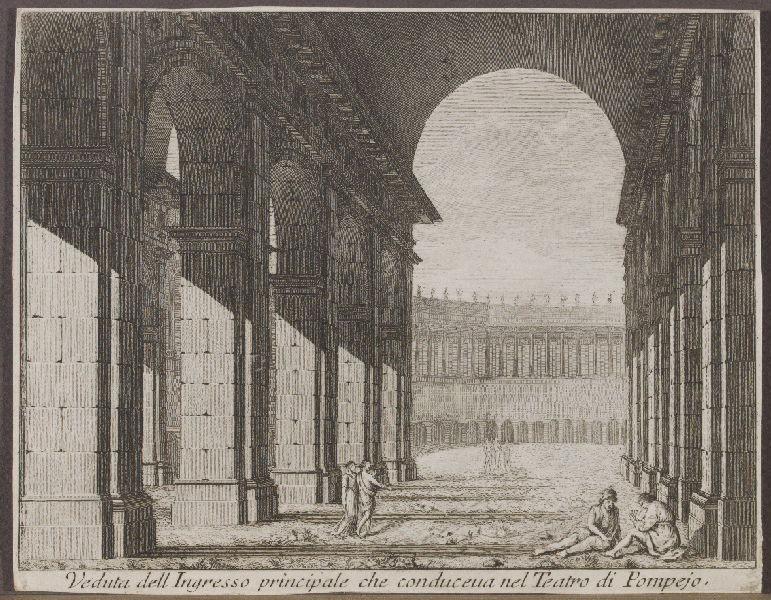Veduta dell Ingresso principale che conduceua nel Teatro di Pompejo_0