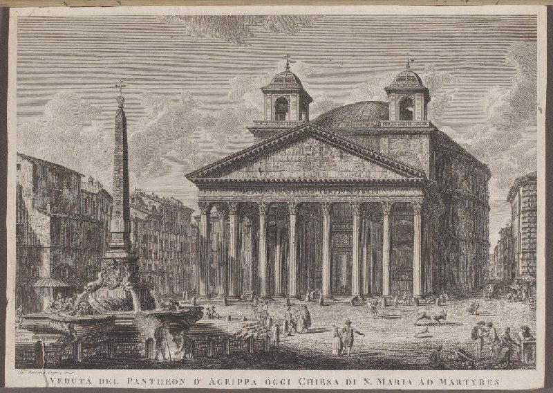 Veduta del Pantheon d'Agrippa oggi Chiesa di S. Maria ad Martyres_0