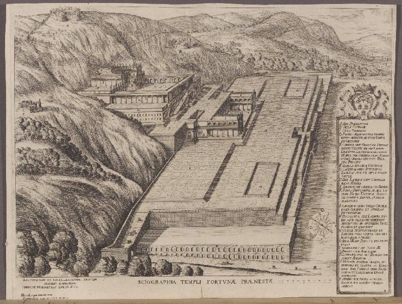 BERRETTINI Pietro (d'après), Pierre de CORTONE (dit), CASTELLI Domenico (dessinateur) : Sciographia Templi Fortvnae Praenestae