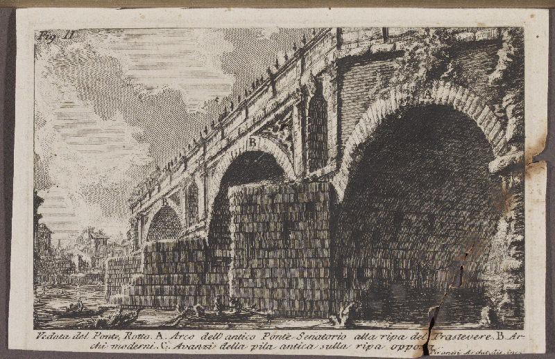 PIRANESI Giovanni Battista (graveur, dessinateur) : Veduta del Ponte Rotto