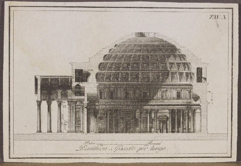 anonyme : Pantheon spaccato per lungo