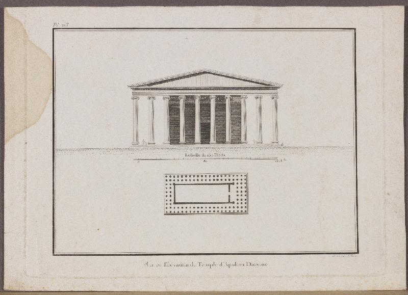 Plan et élévation du Temple d'Apollon Didyme_0