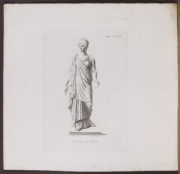 BERTINI Angelo (graveur), BORANI Giovanni Battista (graveur, dessinateur) : Giulia di Tito