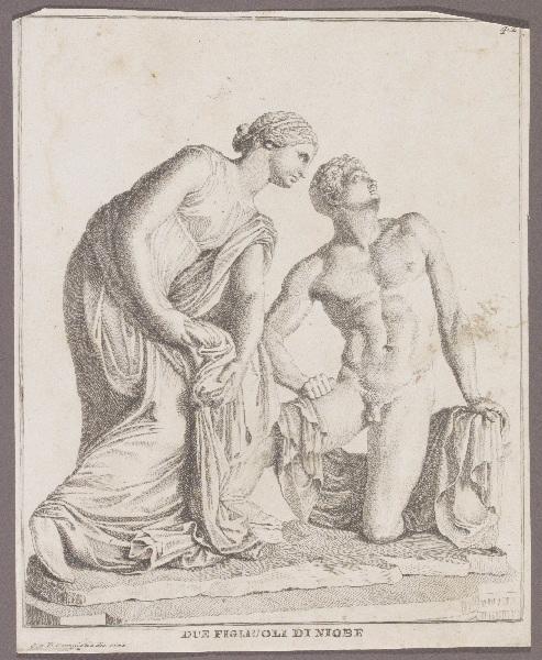 CAMPIGLIA Giovanni Domenico (graveur, dessinateur) : Due figliuoli di Niobe