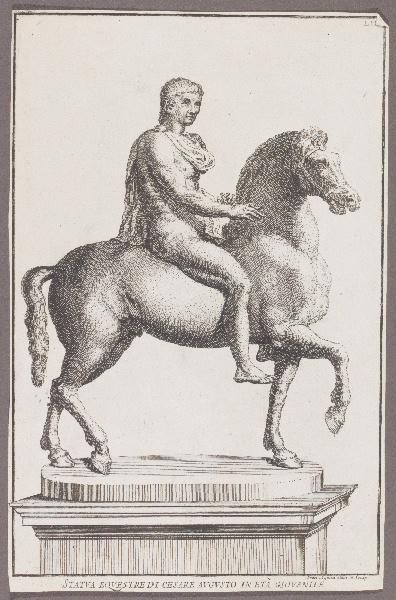 AQUILA Francesco Faraone (graveur, dessinateur) : Statua equestre di Cesare Augusto