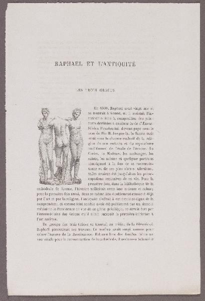 Gazette des Beaux-Arts ; Raphael et l'Antiquité ; Les trois Grâces_0