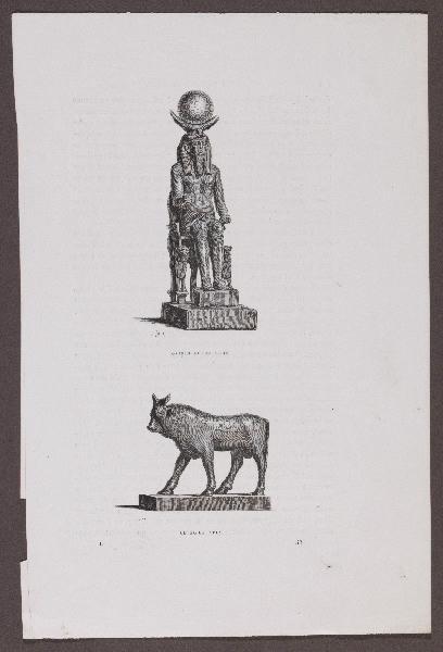 Gazette des Beaux-Arts ; Osiris Lunus Thot ; Le boeuf Apis_0