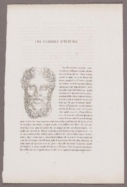 Gazette des Beaux-Arts ; Les Marbres d'Eleusis_0