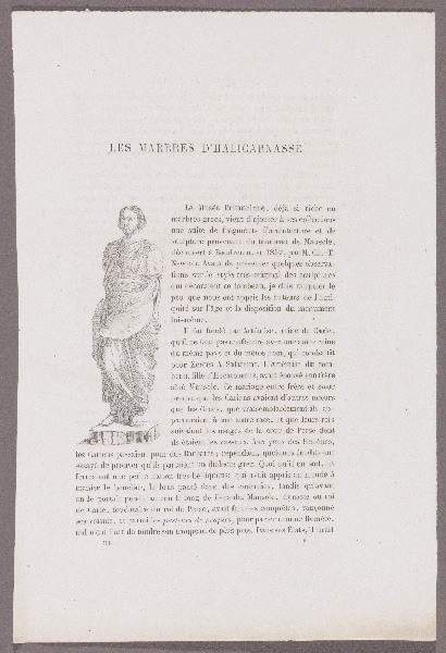 Gazette des Beaux-Arts ; Les Marbres d'Halicarnasse_0