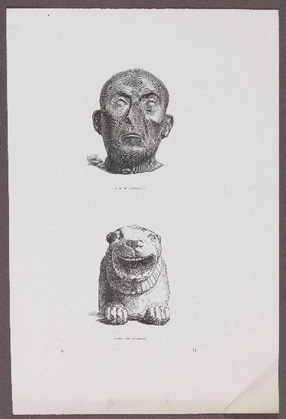 Gazette des Beaux-Arts ; Tête d'eunuque ; Tête de lionne_0