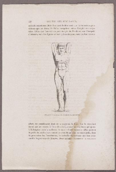 Gazette des Beaux-Arts ; Télamon colossal du temple d'Agrigente ; Grammaire des Arts du dessin_0