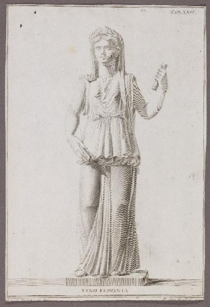PAZZI Pietro Antonio (graveur), MENABUONI Giuseppe (graveur, dessinateur) : Iuno Feronia