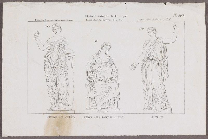 Junon ; Junon allaitant Hercule ; Junon en Cérès_0