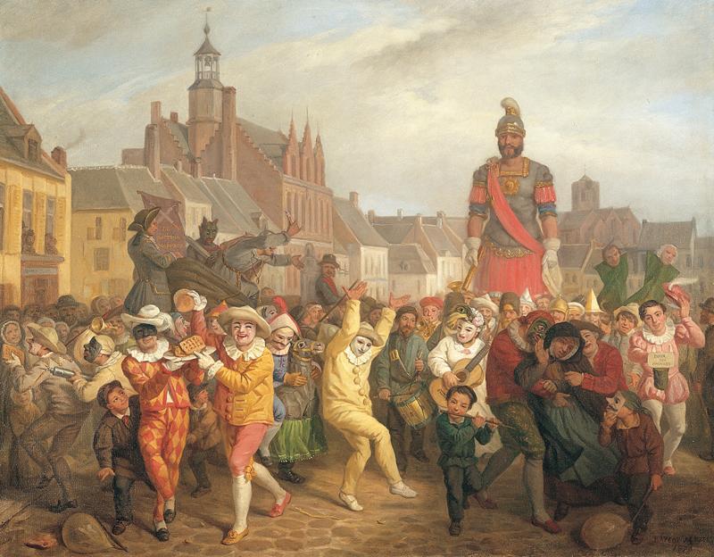 BAFCOP Alexis (peintre) : Le Carnaval de Cassel