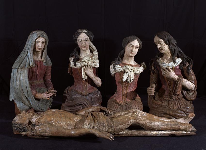 anonyme (sculpteur) : Mise au Tombeau : Sainte Femme