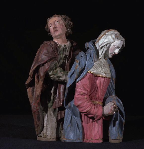 anonyme (sculpteur) : La Mise au Tombeau : La Vierge et saint Jean