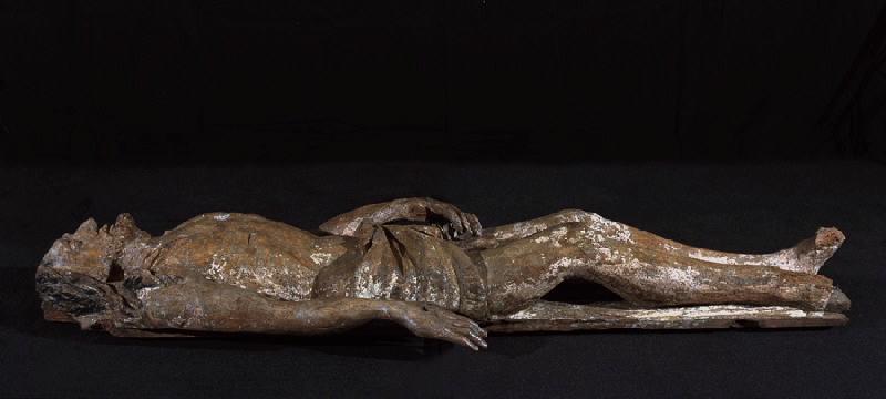 anonyme (sculpteur) : Mise au Tombeau : Le Christ