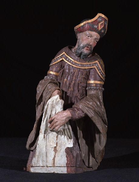anonyme (sculpteur) : La Mise au Tombeau : Saint Joseph d'Arimathie