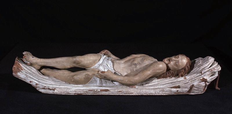 anonyme (sculpteur) : La Mise au Tombeau : Le Christ