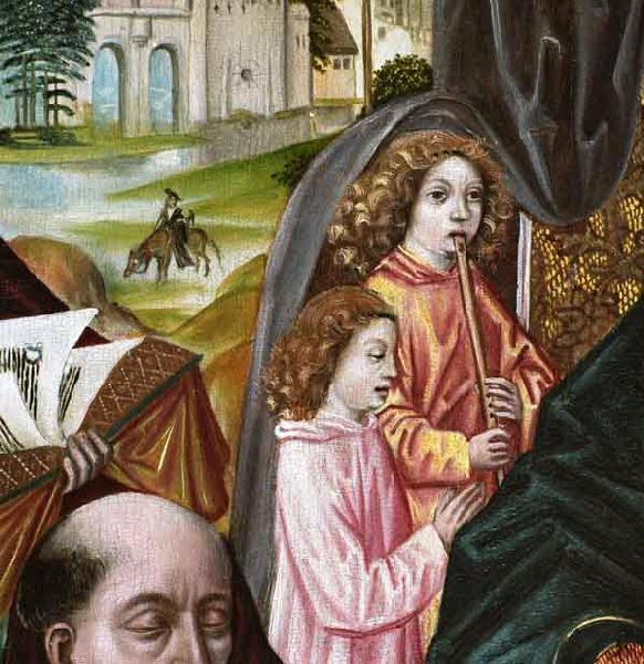 anonyme : La Vierge au donateur Joos van den Damme