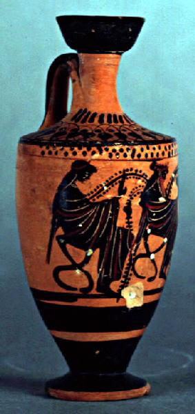 Dionysos entre deux ménades_0