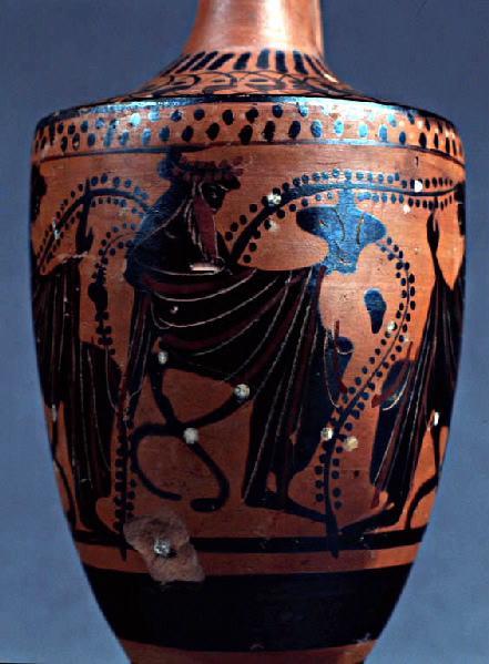 Dionysos entre deux ménades