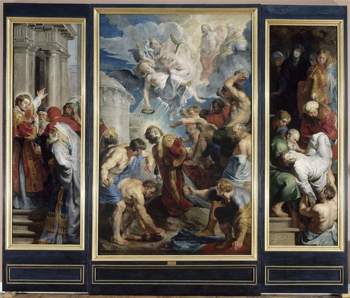 Le Martyre de saint Etienne ; Lapidation de saint Etienne ; Prédication de saint Etienne ; La Mise au tombeau de saint Etienne ; Annonciation ; Ange de l'Annonciation_0