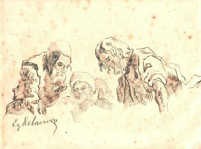 Les dessins d'Eugène Delacroix